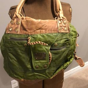Faux D&G purse. Green and brown